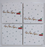 4 Ceramic Coasters in Sophie Allport Starry Night